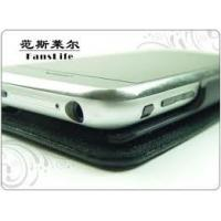 Buy cheap Recyclable Black Cell Phone Leather Case / Holsters / Pouch With Press Logo product