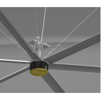 Buy cheap 24 Foot 7.3M Aluminum Extrusion High Volume Low Speed Fans from wholesalers