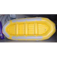 Buy cheap 470 Cm 12 Person Inflatable Raft , Heavy Duty PVC Inflatable Drift Boat With Double Airmat from wholesalers