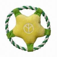 Wholesale 7.5-inch Star Frisbee Dog Toy with Squeaker, Perfect Combination of Rope and Plush from china suppliers