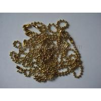 Buy cheap Golden ball chain, bead chain, metal ball chain, metal accessory product
