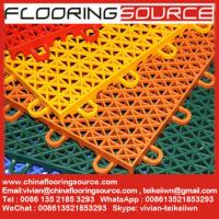 Buy cheap Plastic Interlocking Sports Flooring outdoor & indoor basketball court sports flooring from wholesalers