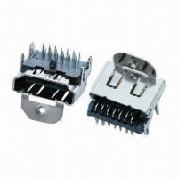 Buy cheap 3-row Type DIP Female HDMI® Connectors with 40V DC Rated Voltage from wholesalers