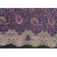 Wholesale Elegant Embroidery Beaded Lace Fabric for Garment Trimming CY-XP0010 from china suppliers