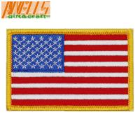 Buy cheap Square Iron On Embroidery Patch Dry Cleanable Sew On Embroidered Patches from wholesalers