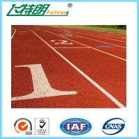 Buy cheap Running Track Flooring / Rubberized Outdoor Flooring 8 Lines High School from wholesalers