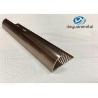 Buy cheap 6063 T5 Aluminium Extrusion Profile Metal Transition Strips For Flooring With Polishing Bronze from wholesalers