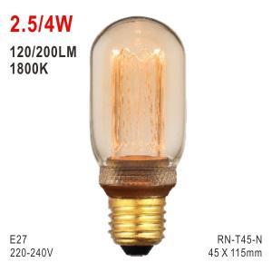 China T45 Bulb, LED Deco Light, E27 Bulb, Fashionable Glass Bulb, Warm White LED Candle on sale