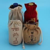 Buy cheap Anti Theft Hessian Drawstring Bags , Natural Color Small Jute Bags For Girl from wholesalers