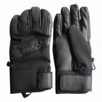 Buy cheap Sports/Ski Gloves, Made of Lycra and Leather Materials from wholesalers