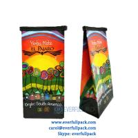 Buy cheap Guangdong manufacturer custom design vivid printing laminated material plastic coffee bag with tin tie and valve from wholesalers