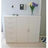 Buy cheap Eco - Friendly Melamine Shoe Shelves / Simple Style White Shoe Storage Cabinet from wholesalers