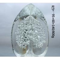 Buy cheap Crystal Ornament Decorative Glass Craft With Snake on the Stand For Desktop from wholesalers