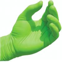 Buy cheap Non Sterile Nitrile Gloves , Green Nitrile Exam Gloves Chemical Resistance from wholesalers