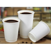 Buy cheap ISO9001 Double Layer Kraft Paper Coffee Drink Cup 16oz For Cafe from wholesalers