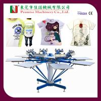 Buy cheap Manual Operating 8 Colour Double Pivoting Garment Screen Printing Machine from wholesalers