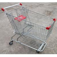 Buy cheap Custom Grocery Shopping Trolley Wire Cart On Wheels American Style 180 Litres from wholesalers