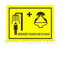 Buy cheap SHS2030-Safety shower and eyewash sign,PVC safety sign from wholesalers