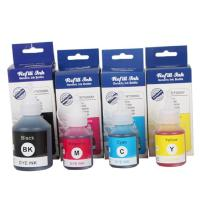 Buy cheap Universal 100ml Color Refill Ink , Brother Recharge Ink Cartridges DCP - T300 T500W from wholesalers