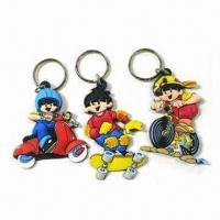 Wholesale Soft PVC Keychains, Made of Eco-friendly Material, Customized Pattern Plastic Keychains Premiums from china suppliers