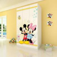Buy cheap E0 Grade Kids'/Children's Furniture, 3-door Wardrobe with Printed Cartoon Pictures from wholesalers