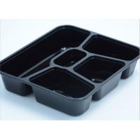 Wholesale Most popular 5-department takeaway tray Injection Disposable Plastic Food Containers with lid from china suppliers