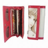 Wholesale Women's Leather Long Wallets with Golden Hardware, 12 Card Slots and Divided Bill Compartments from china suppliers