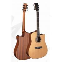 Wholesale 41inch OEM TOP solidwood vintage cutaway electric acoustic guitar/western guitar steel string sale-TP-AG58 from china suppliers