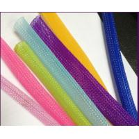 China Non Flammable Flexo Pet Expandable Braided Cable Sleeving Wear Resistant Wire Harness on sale