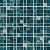 Buy cheap GS101 silver aquamarine gold line mix glass mosaic bathroom tile from wholesalers