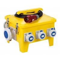 Buy cheap Yellow Mobile Portable Electrical Distribution Box Shock Resistant PE Enclosure product