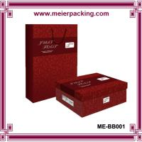 Buy cheap Custom printed paper packaging boxes & bags for men lady shoes ME-BB001 from wholesalers