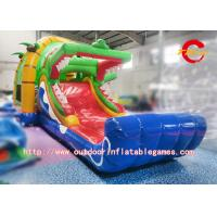 Buy cheap Tropical Jungle Moon Jump Slide Crocodile Combo / Inflatable Jumping Castle Blower from wholesalers