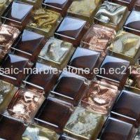 Buy cheap Plating Mosaic Tiles Dark Coffee and Bright Rose Color from wholesalers