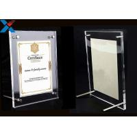 Buy cheap Clear Acrylic Photo Frame A4 A3 Certificate / Business License Frame from wholesalers