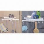 Buy cheap Suction racks with towel shelf, suction shelf, suction hook, suction button from wholesalers