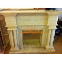 Buy cheap White Onyx Marble Stone Fireplace Mantel from wholesalers
