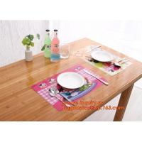 Buy cheap Custom PVC Woven Decorative Table Mat Placemat,Dining Room Hot Food Woven Fabric Vinyl PVC Table Mat,placemats pvc dinin from wholesalers