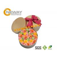 Fashion OEM Round Flower Paper Box Embossing Printing With Lids