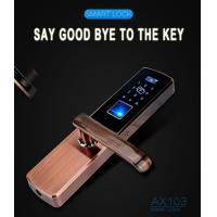 Buy cheap Keyless Security Mortise Intelligent Biometric Electronic RF ID Card Home Smart Code Fingerprint Door Lock China from wholesalers