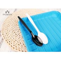 Wholesale Food Grade Plastic Disposable Tableware White / Black Cutlery Customized Plate from china suppliers