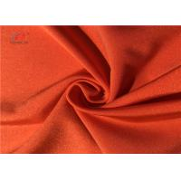 Buy cheap Semi Dull Orange Colour Polyester Spandex Fabric For Swimwear Underwear Leggings Yoga from wholesalers