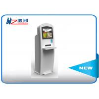 China 22 Inch Powder Coated Self Service Kiosk Self Check In Kiosk With Keyboard on sale