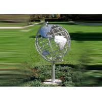 Wholesale Decorative Stainless Steel Sculpture With Semi - Meridian Globe Shape from china suppliers