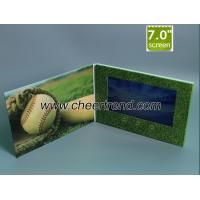 Buy cheap Whosale price A5 size 7 inch video brochure card with 256Mb to 16GB memory options from wholesalers