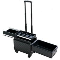 Wholesale Aluminum Trolley Case Beauty Box On Wheels 375×225×330 mm With Metal Lock from china suppliers