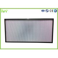 Wholesale H10 - H14 Efficiency Hepa Filter Replacement , Pleated Panel Air Filters Easy To Install from china suppliers