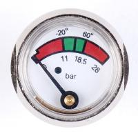 Buy cheap 1 Inch 25mm Diaphragm Pressure Gauge Fire Extinguisher With Chrome Plated from wholesalers