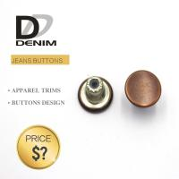 Buy cheap Custom Engraved Logo • Sew On Buttons  • Decorative Metal Denim Brass Button from wholesalers