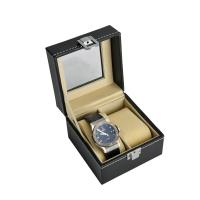 Wholesale Custom Luxury Leather Watch Box With 2 Slot Plastic Display Window from china suppliers